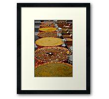 Arles Market- Spices 2 Framed Print