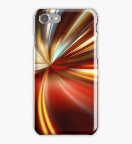 acceleration of the motion on the night road iPhone Case/Skin