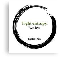 Evolution Life Quote Canvas Print