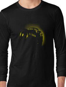 I Shoot with my nikon (Halftone style) Long Sleeve T-Shirt