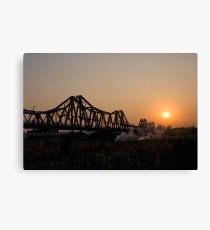 Long Bien Bridge Serenate Canvas Print