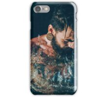 Tattoo Male Portrait - In to the Water iPhone Case/Skin