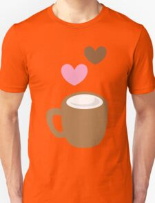 LOVE COFFEE funky retro simple coffee cup with love heart T-Shirt