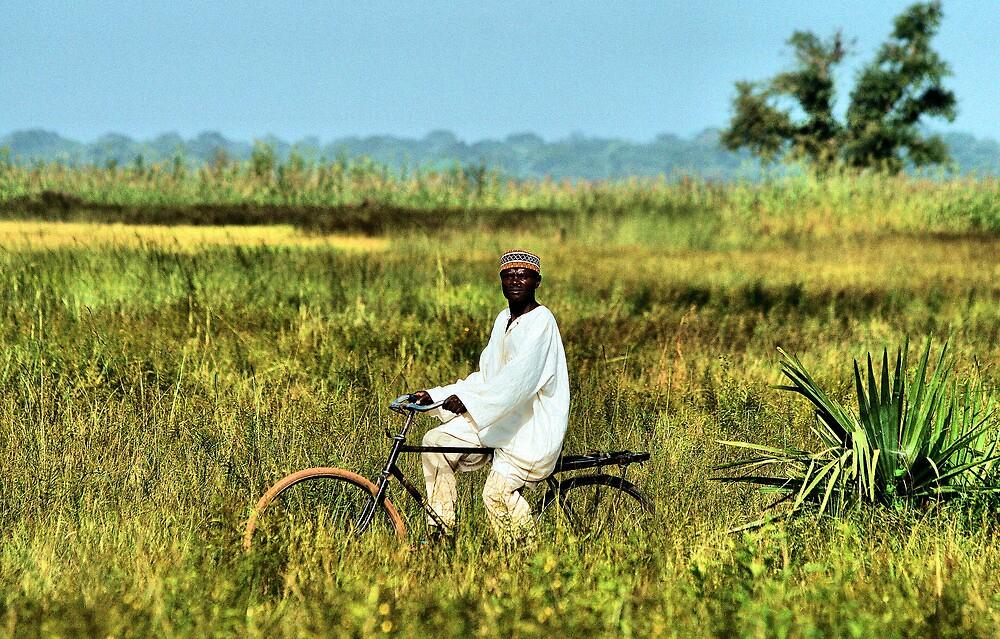 Village Biker on an African Harley Davidson by joshuatree2