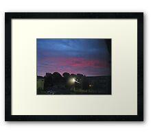 Purple sky of Christmas morning Framed Print