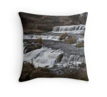 Willow River Falls I - WI Throw Pillow
