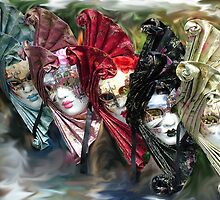 Carnival Masks Venice by Sheila Laurens