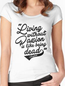 """""""Living without Passion is like being Dead"""" -Jungkook,BTS Women's Fitted Scoop T-Shirt"""