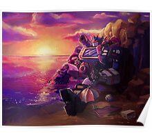 Beach Bot Nap Pile Poster