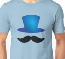 Top hat with mustache Unisex T-Shirt