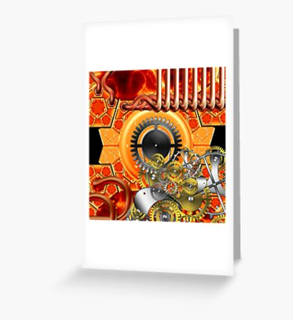 abstract steampunk machine  Greeting Card