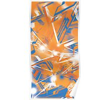 Abstract Blue Orange Poster
