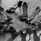 Comme il faut, tango dancing shoes, b &amp; w by Aikaterini  Koutsi Marouda