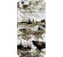 Hurricane at Samoa on the morning of March 16 1899 iPhone Case/Skin