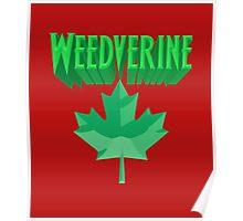 Weedverine Green Maple Leaf Poster