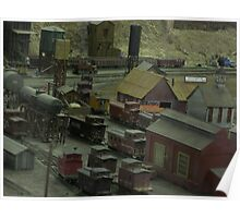 Really cool model train yard oh I so love trains wee Poster