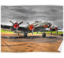 Sally B/|Memphis Belle Flying Fortress Poster