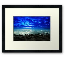 stillness of the bay Framed Print