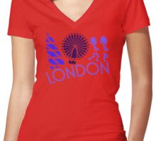 London Tour Women's Fitted V-Neck T-Shirt