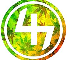 47 RED YELLOW GREEN RASTAFARIAN WEED CIRCLE  by SourKid