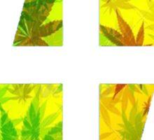 47 RED YELLOW GREEN RASTAFARIAN WEED CIRCLE  Sticker