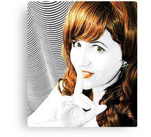 SHH! Selfie Canvas Print
