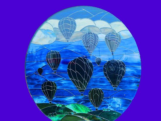 Stained Glass window On The national Hot Air Balloon Museum by Linda Miller Gesualdo