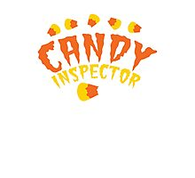HALLOWEEN funny CANDY INSPECTOR! with candy corn Photographic Print