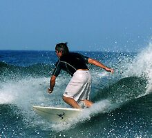 #451 Surfer At Spring Lake, New Jersey by MyInnereyeMike