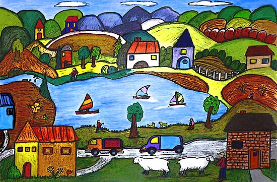Around The Lake by Monica Engeler
