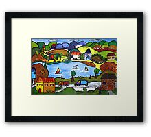Around The Lake Framed Print