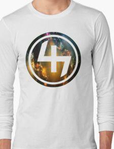 47 ORANGE BLUE AND GOLD NEBULA CIRCLE Long Sleeve T-Shirt