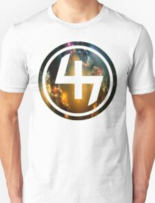 47 ORANGE BLUE AND GOLD NEBULA CIRCLE T-Shirt