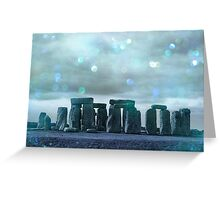 Bokeh Stonehenge Greeting Card