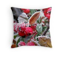 Berries in the Frost Throw Pillow