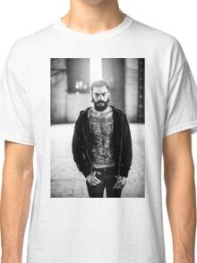 Light Tattoo Male Portrait Classic T-Shirt
