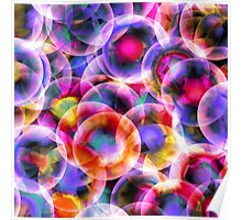 abstract bubbles design Poster
