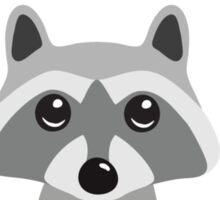 """Raccoon holding a banner with the text """"Hello"""" Sticker"""