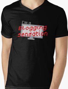 I'm a BLOGGING SENSATION! with modern computer screen Mens V-Neck T-Shirt