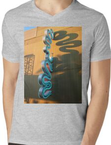 Neon Sign, Universal Studios FL Mens V-Neck T-Shirt