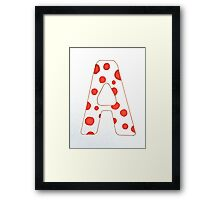 Letters of the Alphabet   A Framed Print