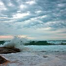Turrimetta Beach just before the sunset by Doug Cliff