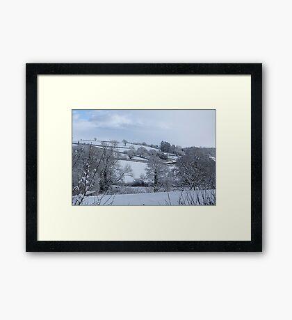 Winter Devon landscape Framed Print