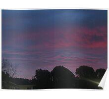 Purple sky of Christmas morning 3 Poster
