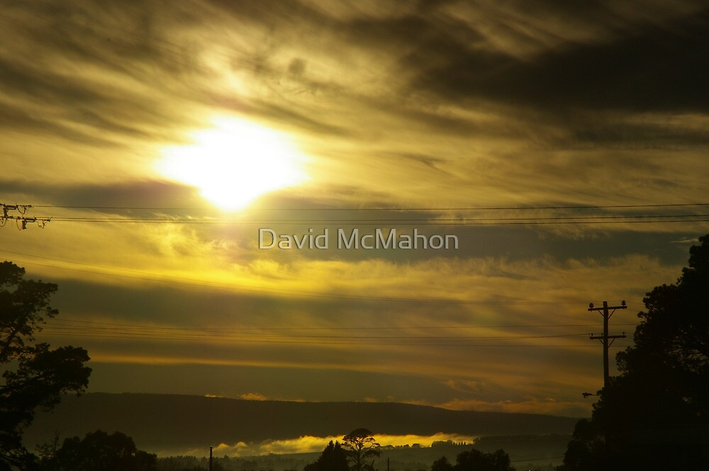 Golden Caress Of A Winter Dawn by David McMahon