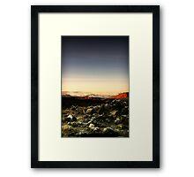 Rock field, near Loch Loyne, Scotland Framed Print
