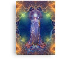 Quan Yin and the silent song of the lightning white rose of wisdom Canvas Print