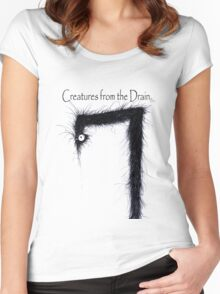 the creatures from the drain 11 Women's Fitted Scoop T-Shirt