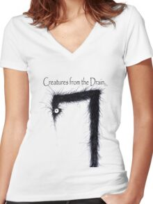the creatures from the drain 11 Women's Fitted V-Neck T-Shirt