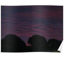 Purple sky of Christmas morning 4 Poster